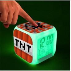 Часы будильник Майнкрафт